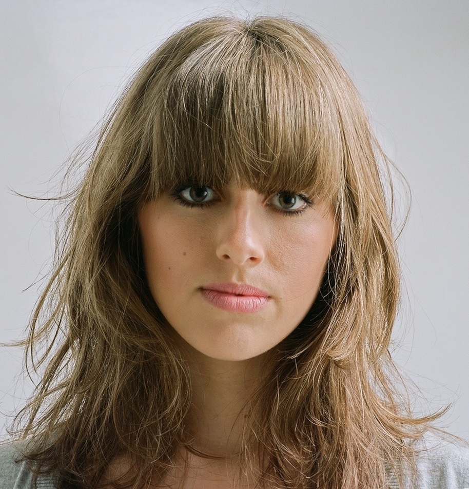 Female model with tousled hair