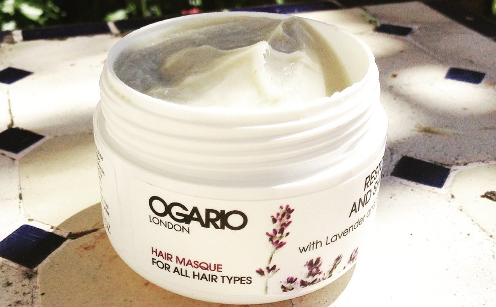 Open jar of Ogario London Restore and Shine Hair Masque