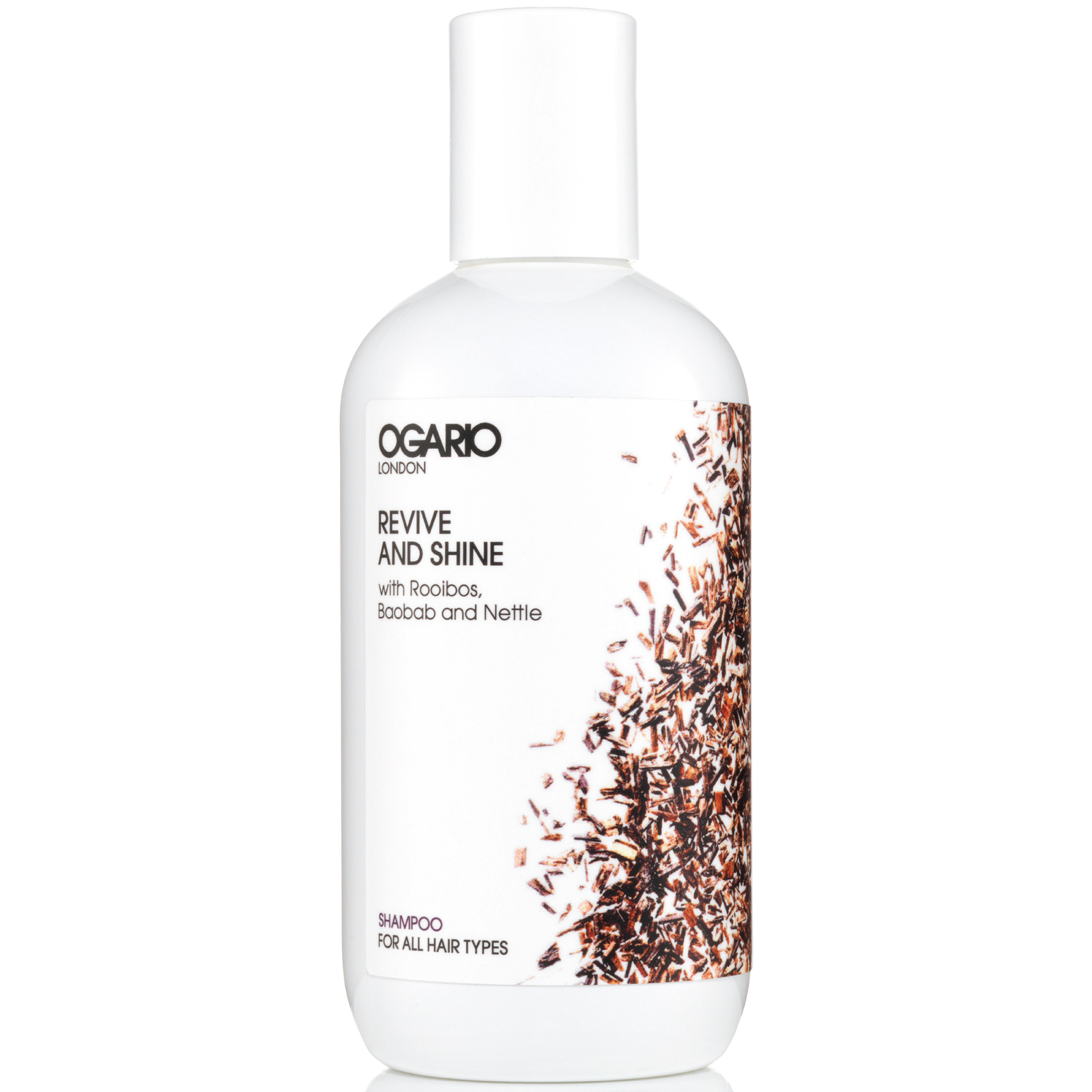 OGARIO Revive and Shine Shampoo for all hair types; prep fine hair for styling, adds volume