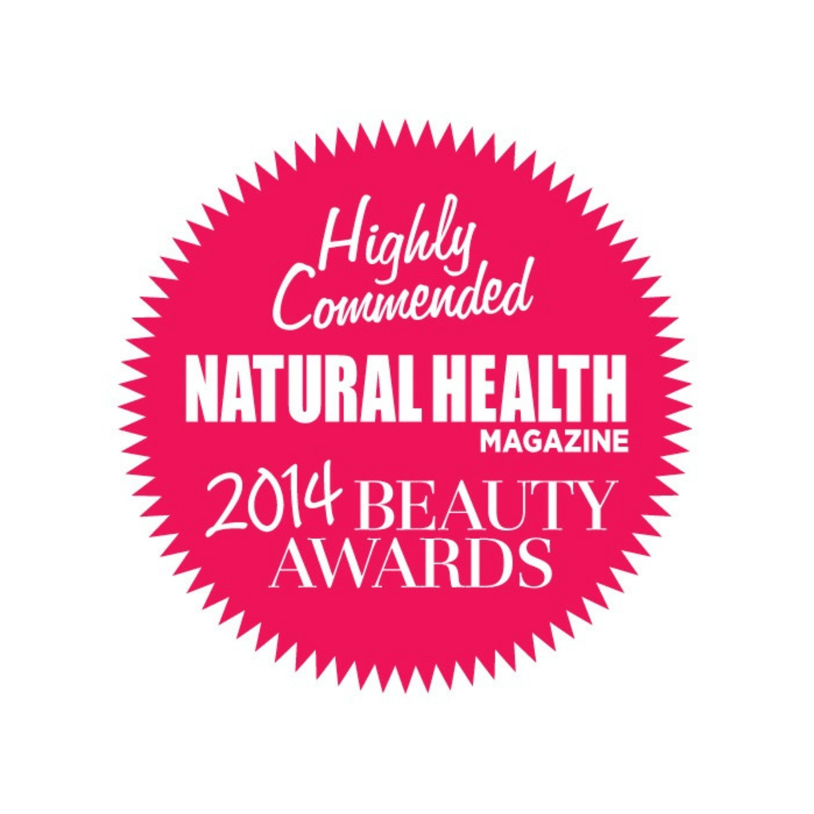 Natural Health Magazine Awards Winner; Best Natural Shampoo and Conditioner