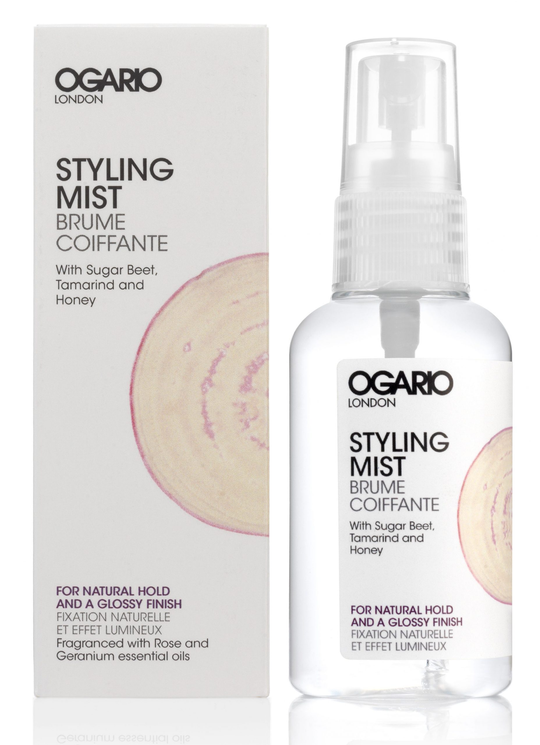 Leave in conditioner; Styling Mist Glossy, best for dry, damaged or bleached hair.