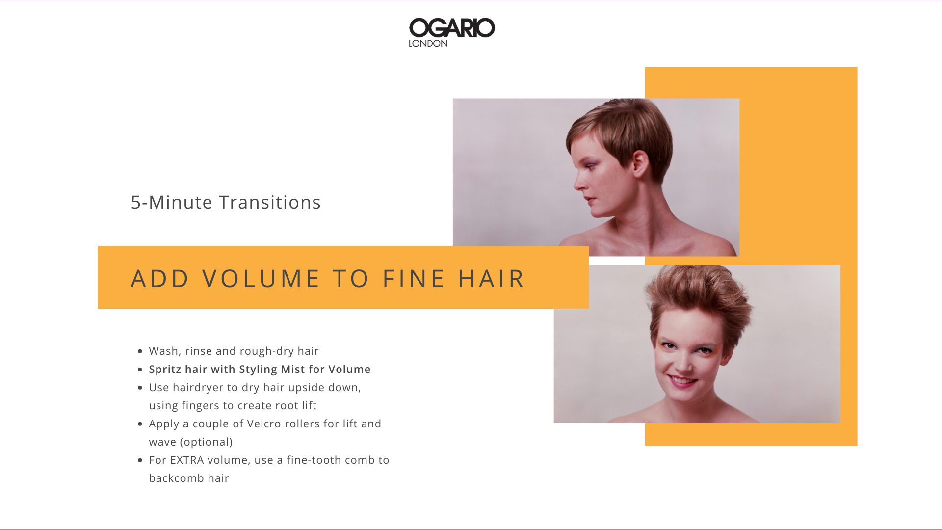 Fine Hair Tips: Volume