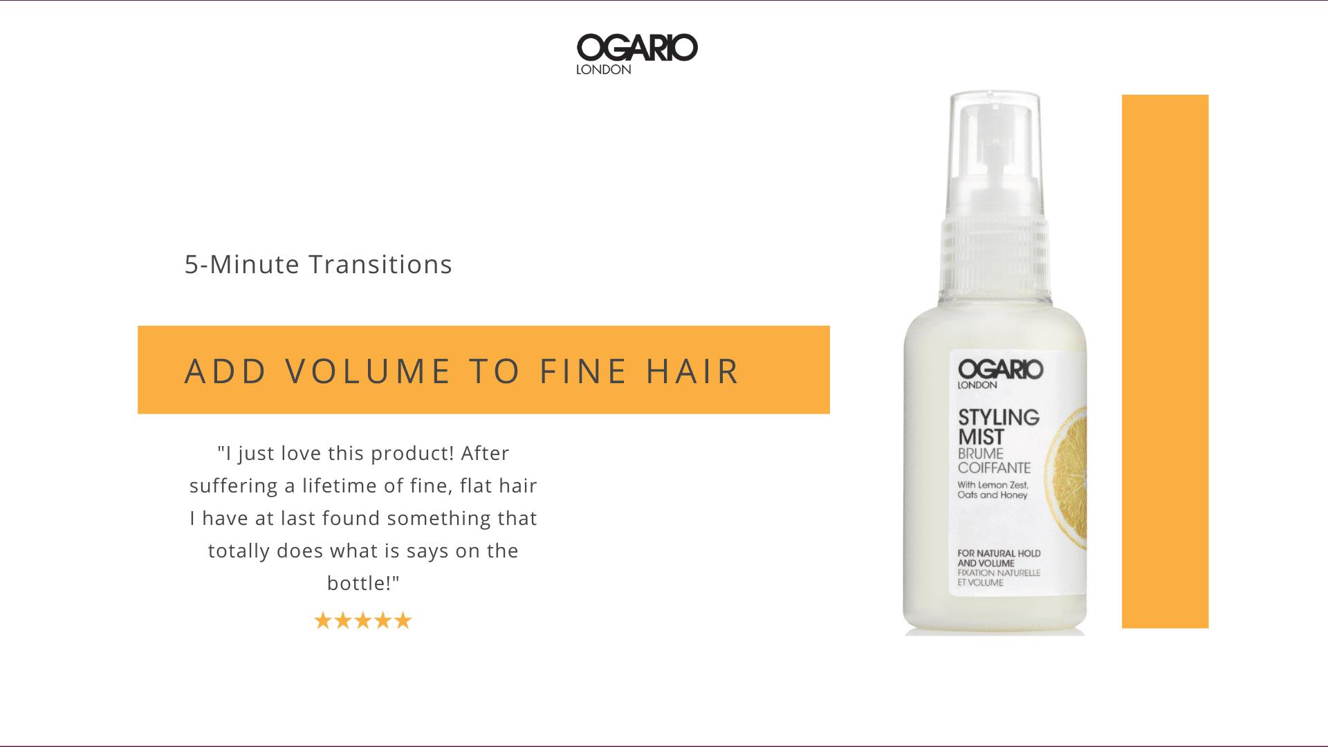 Fine Hair Tips - Volumiser