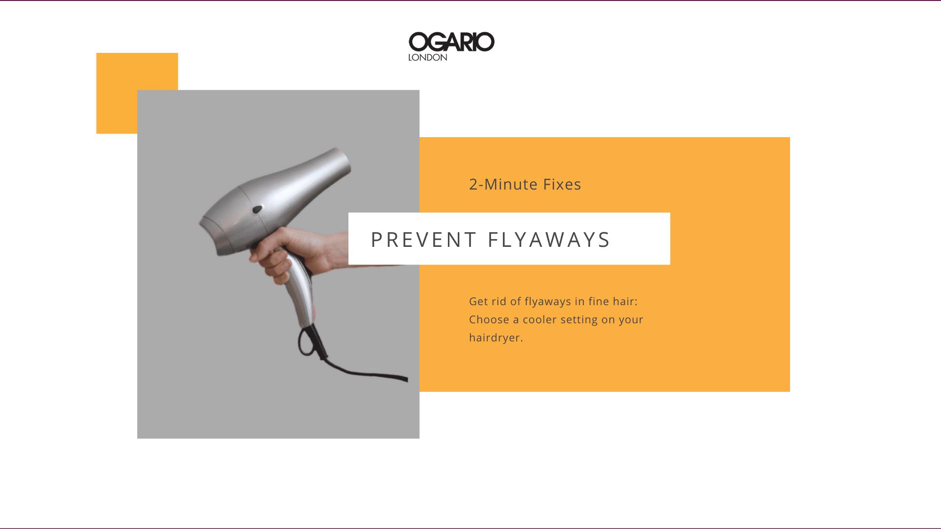 Fine Hair Tips: Prevent Flyaways