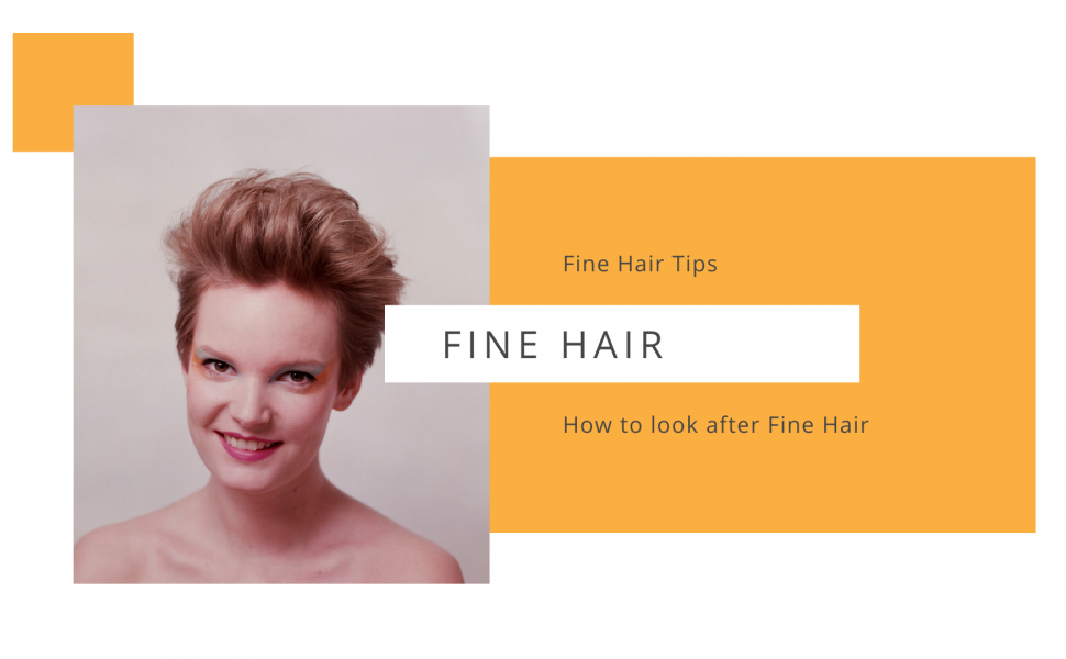Styling and care for fine hair