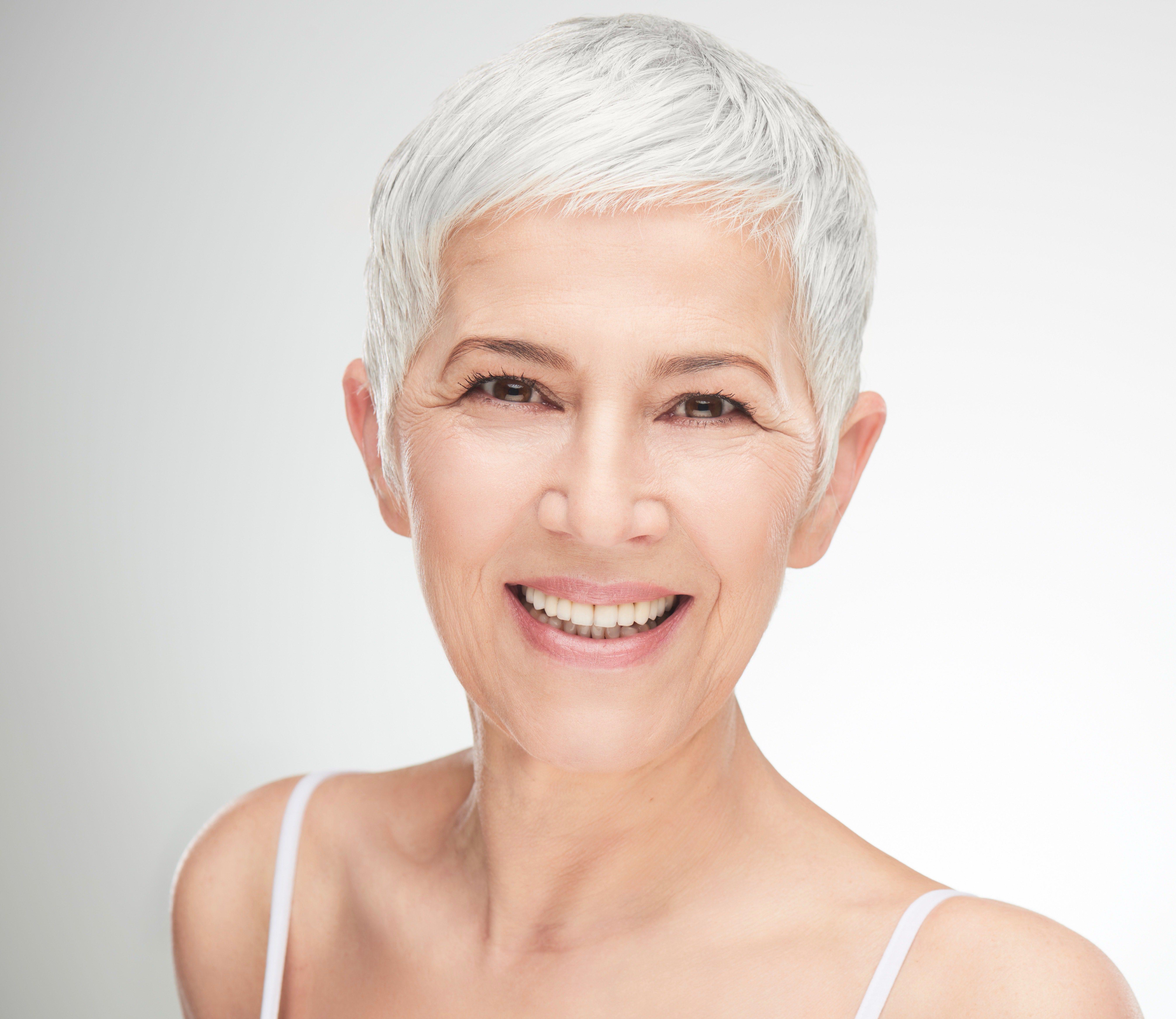 Short Grey Hair Style