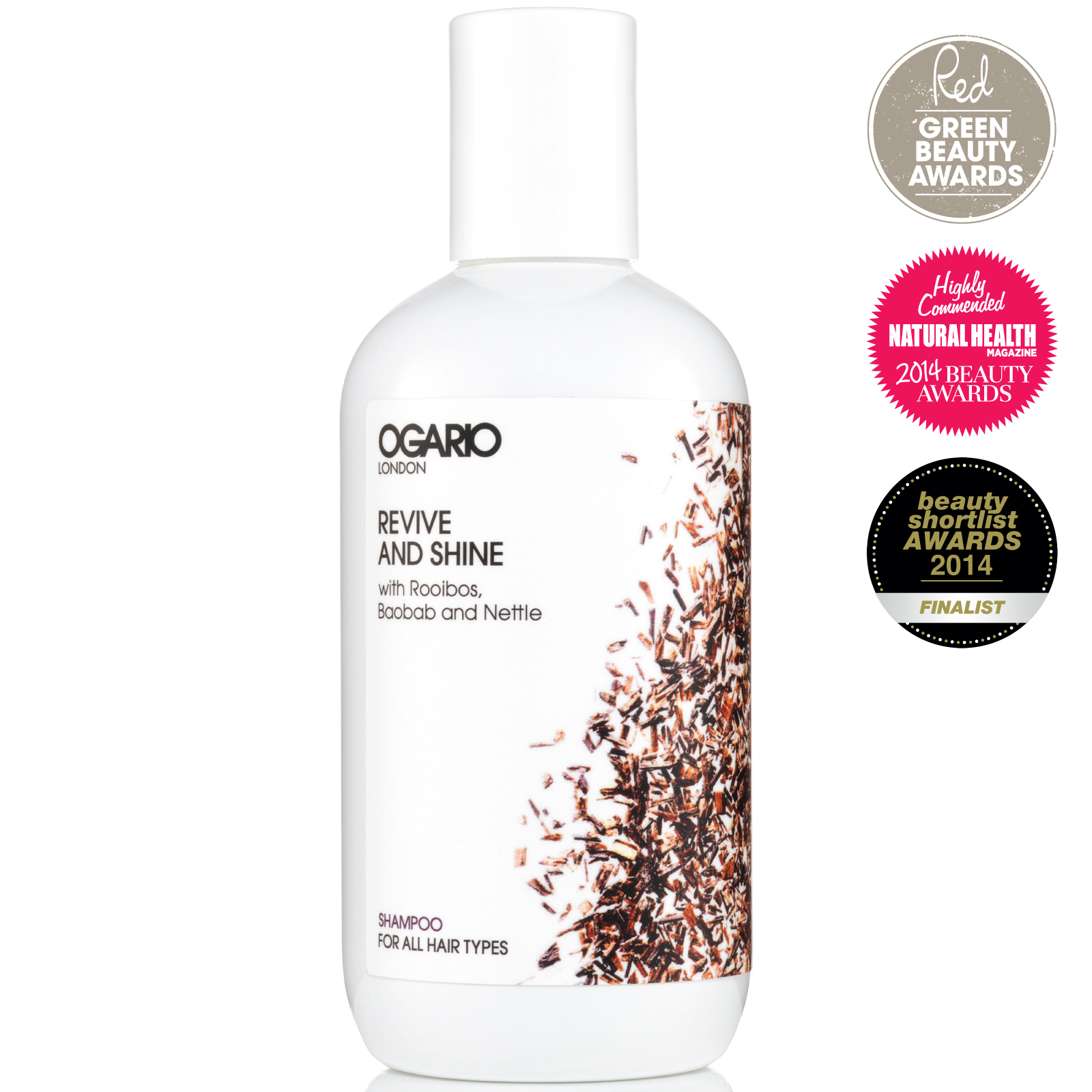 OGARIO Revive and Shine Shampoo; Baobab adds volume to fine hair