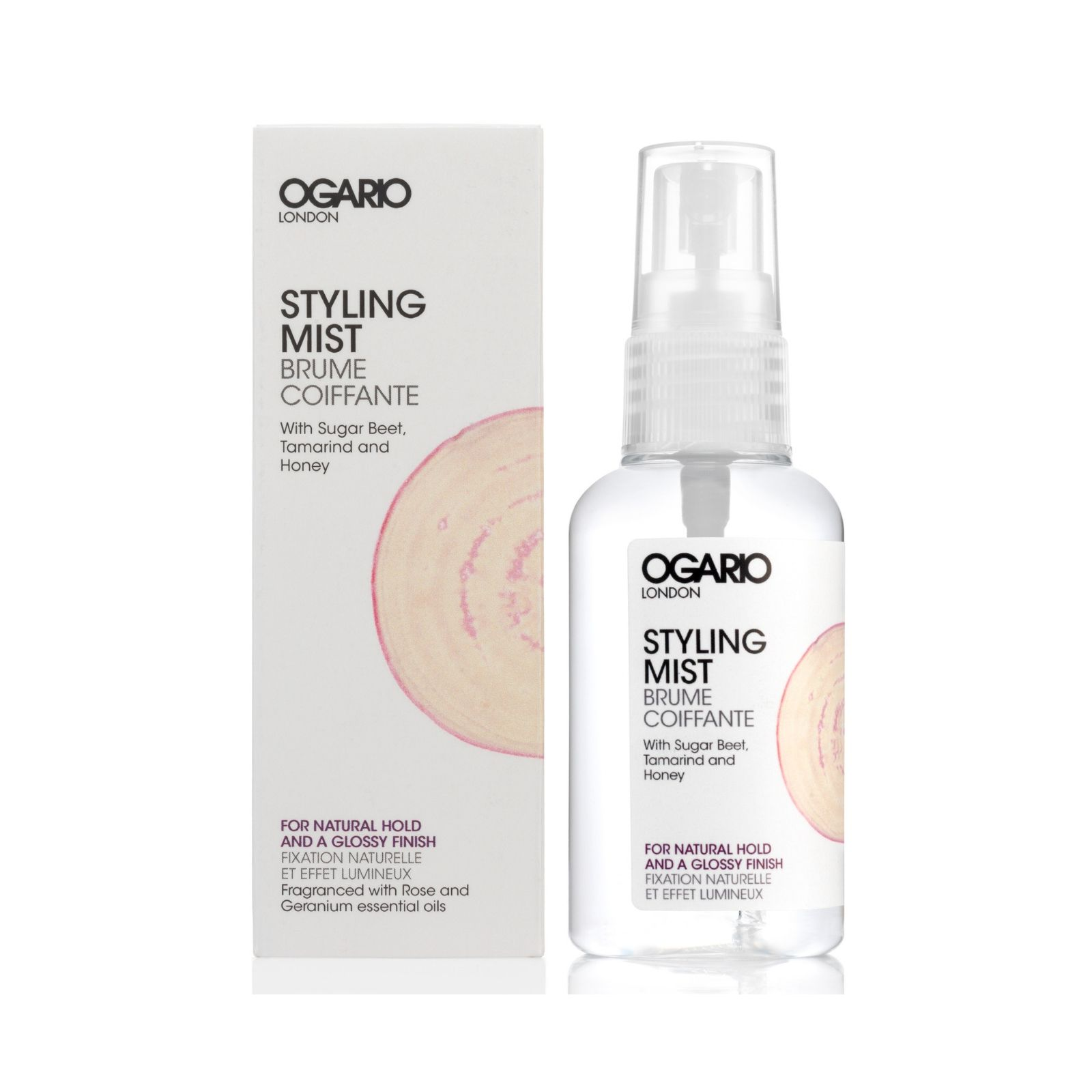 OGARIO Styling Mist for Natural Hold and Glossy Finish; Best for adding moisture and definition to dry curly hair