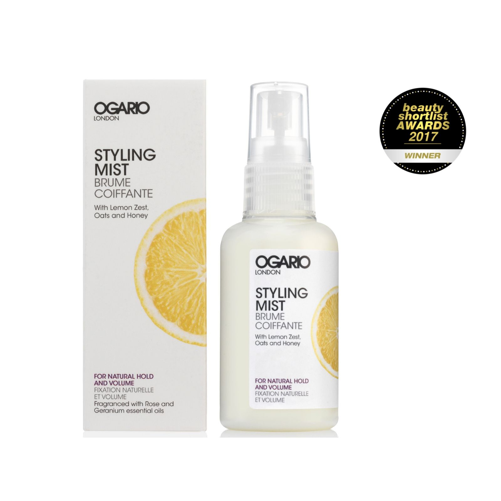OGARIO Styling Mist for Natural Hold and Volume; For fine hair