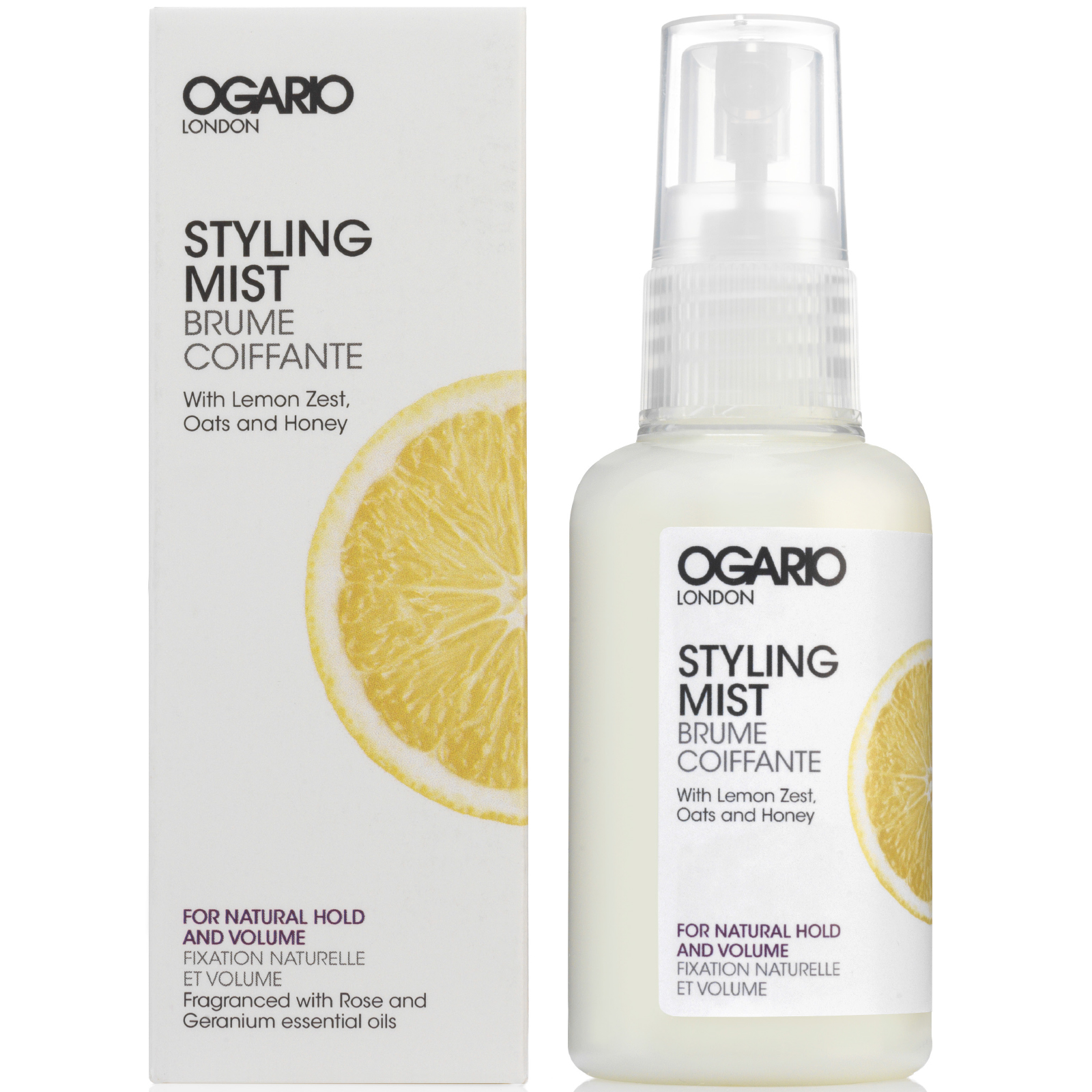 Stying Mist with argan oil to treat hair; best for adding volume