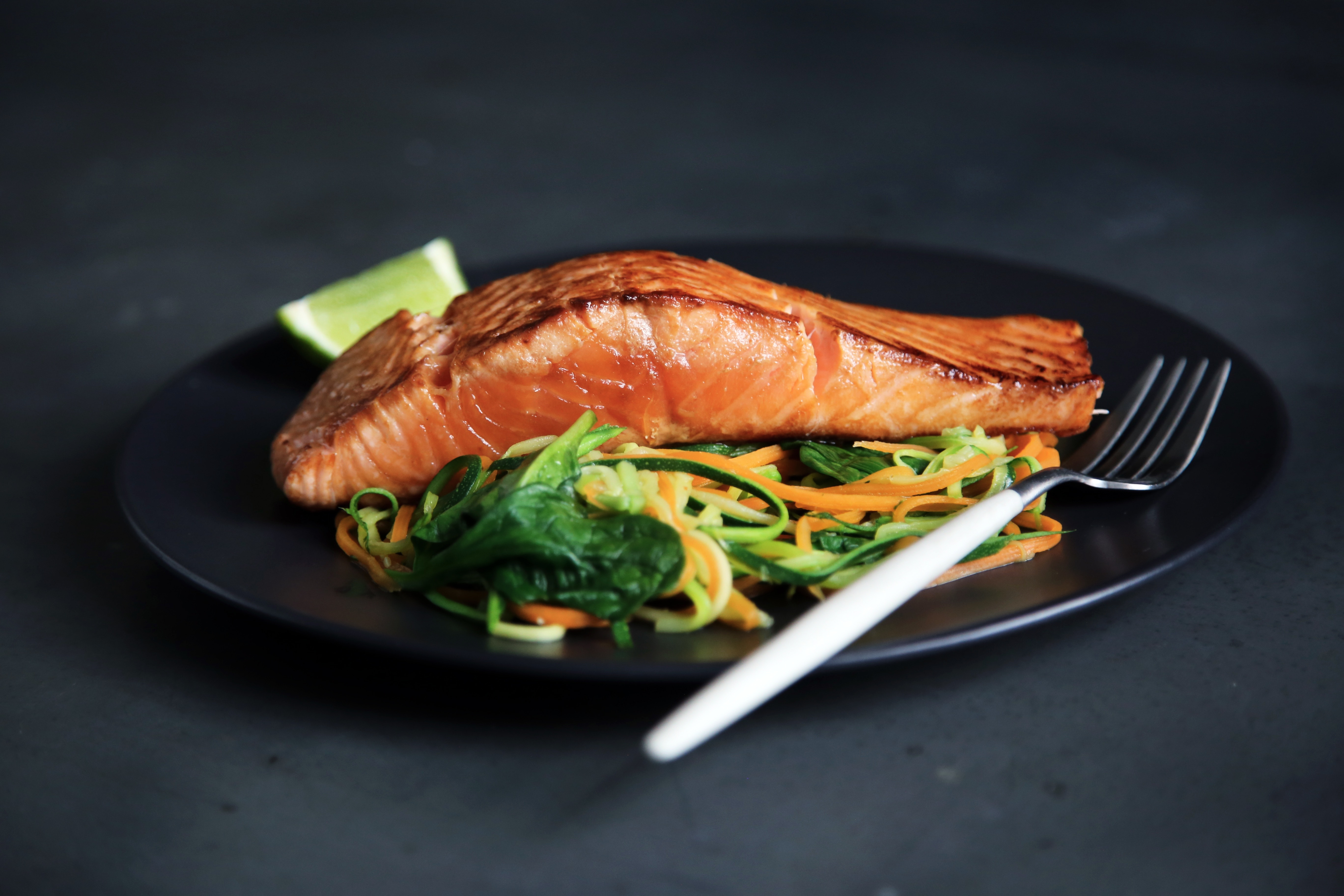 Hair is made from keratin; choose oily fish such as salmon for healthy hair