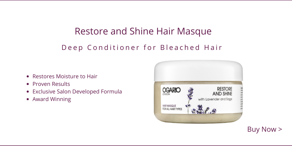 Add moisture to bleached hair