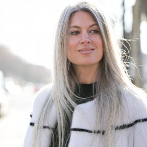 Long Grey Hair Style